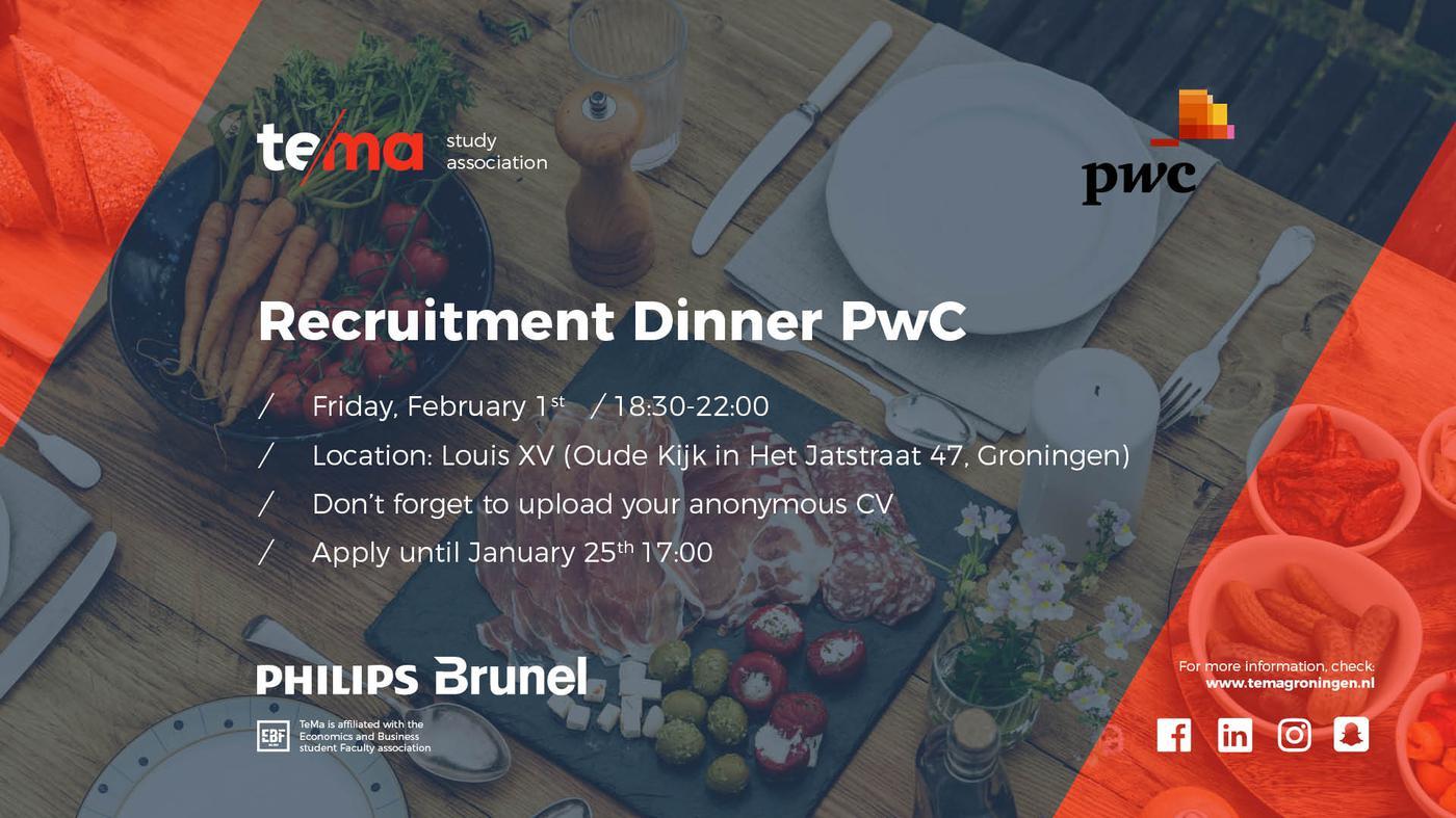 Recruitment Dinner PwC
