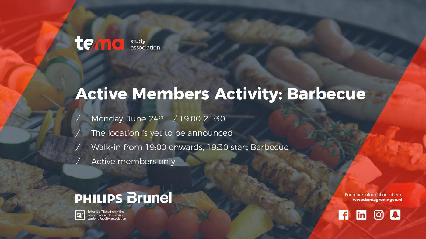 Active Members Activity: Barbecue