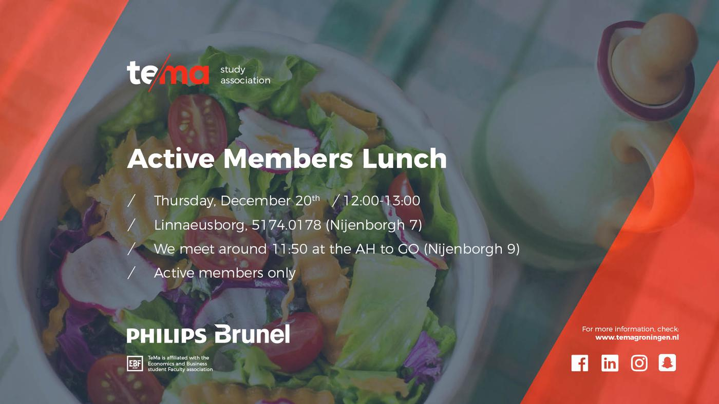 Active Members Lunch