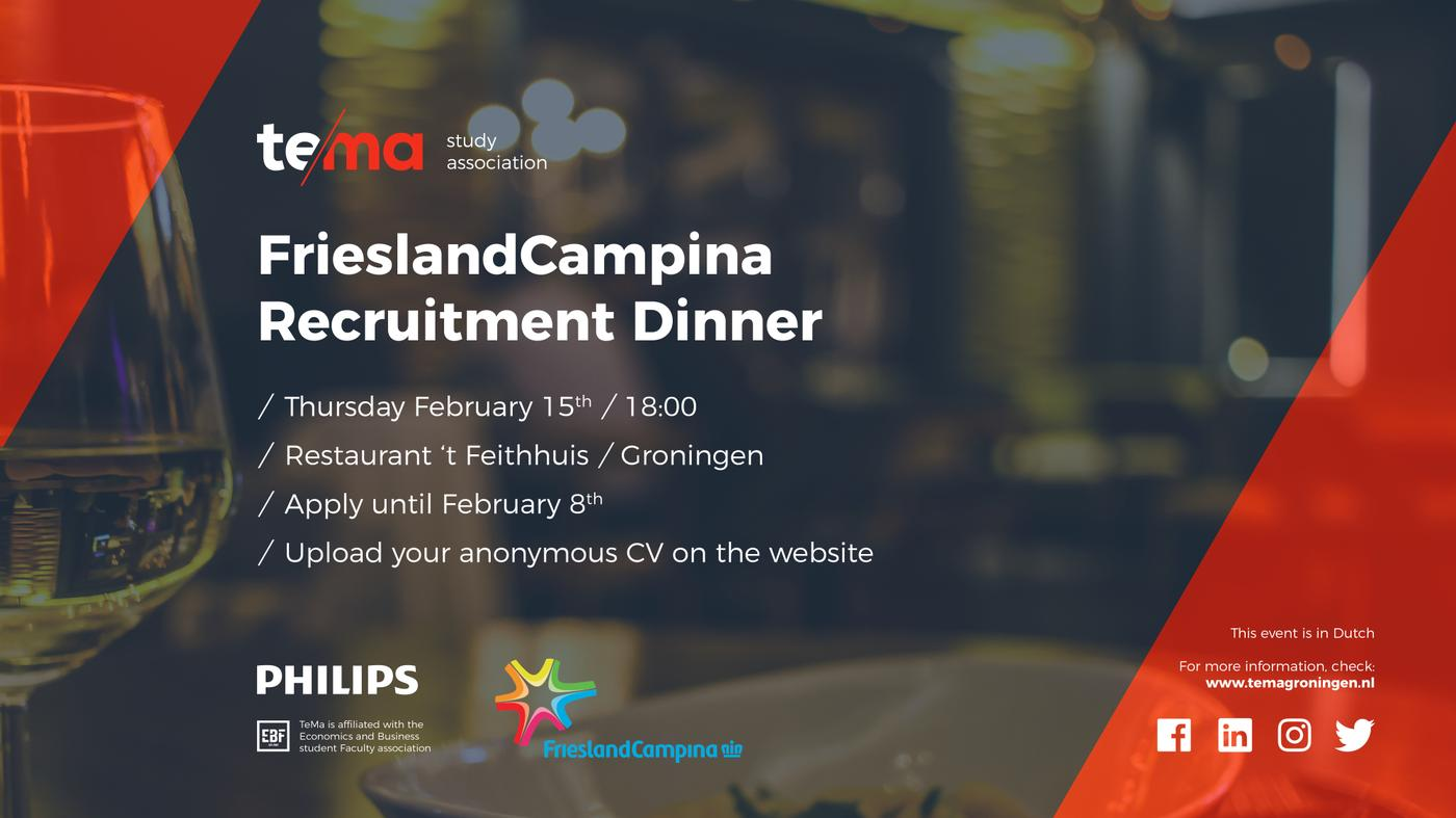Recruitment Diner FrieslandCampina